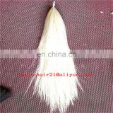 natural horse hair /light flaxen horse tail hair/colorful horse tail hair