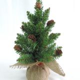 Artificial christmas burlap tree
