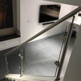 Stainless steel safety glass railings for garden / pool