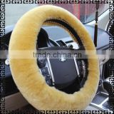 Genuine Sheepskin Car Leather Sewing Steering Wheel Cover