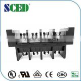 Perforation terminal connector screw barrier connector strip