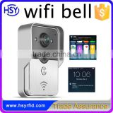 P2P cloud service PIR night view Real time video and audio WIFI video door bell for unlock video door phone