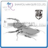 Piece Fun 3D Metal Puzzle insect Animal Stag Beetle Adult intelligent DIY model educational toys gift NO GLUE NEEDED NO.PF 9404
