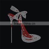 Beautiful high heels rhinestone hot fix transfer                                                                                                         Supplier's Choice