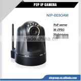 New arrival wireless wifi P2P IP security Camera pan tilt server,COMS sensor with night vision