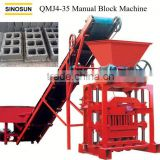 Professional Manual Block Machine QMJ4-35