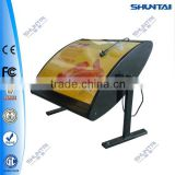 rotating fast food restaurant menu light box