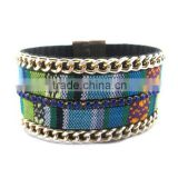 embroidery wide cuff bangle bracelet brazilian costume jewelry