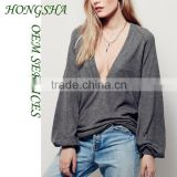 Fashion Designer Western Ladies Deep Thoughts Long Sleeve Top Images for Women 2016 HSt7510