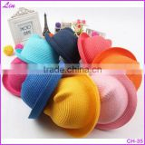 2016 new summer grass hat cute cat ear straw hat shading children adult models of wholesale hat section
