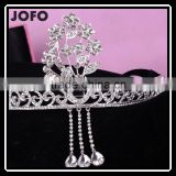 BlingBling Cheap Wholesale Bridal Crown Crystal Rhinestone Pave Wedding Jewelry for Fashion Bridal Tiara Jewelry