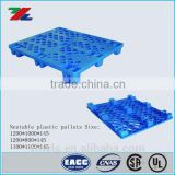 Euro Epal HDPE / PP Nestable Plastic pallet with Mesh Grids Nine Feet                                                                         Quality Choice