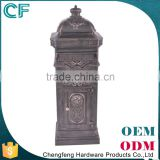 The Most Popular Style In Europe Lion Decorative Die Casting Aluminiun Large Post Box From China