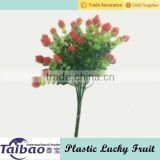 Plastic mini lucky fruit bush artificial grass with flower                                                                         Quality Choice