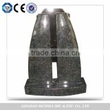 Delicate Quality American Style Chinese Granite Black Tombstone Headstones