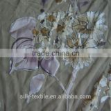 printed and Burn out rayon silk nylon satin fabric