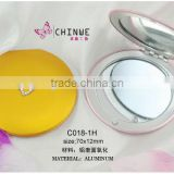 Small round Foldable makeup mirror/Lady favourite handheld professional staninless rail makeup mirror with rhinestones