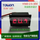 "0.56"" Green Red Blue LED Waterproof DC Voltmeter 12 Volt Battery Meter 2.5-30V DC Auto Gauge Digital Voltmeter"