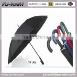2016 Promotional umbrella with solid fabric custom made golf umbrella with factory price