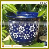 Factory blue and white plum flower painting big tree ceramic pots for garden decor                                                                         Quality Choice