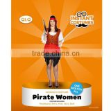 Halloween adult Sexy women pirate costume for Carnival Party female pirate dress costume
