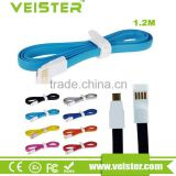 Veister Angle Magnet Micro Usb Cable 1.2M,With Bold Dazzling Color,Data Transfering Power Supply More Stable