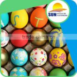 Colorful low price customized painted plastic Easter egg for packing candy