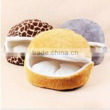 wholesale Hamburger Style Shell Nest Windproof Waterproof Removable Pet Cat Bed House Thermal Hiding