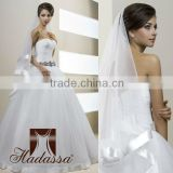 French designe Ball Gone Wedding Dress high quality mesh with cristal brosh