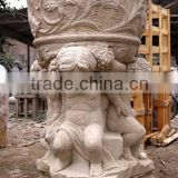 Stone planter flower pot kid baby sculpture marble hand carved from Vietnam