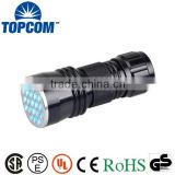 380nm 21 LED UV Flashlight Reviews Mini Portable Black Light