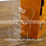 Laser Engrave Glass Wedding Invitation Cards