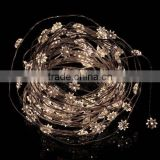 10M 100 LED eight-pointed star silver thread fairy string lights with power adapter for Christmas,parties,weddings,etc