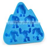 2014 eco-friendly safe animal shape silicone cake mold for baking,silicone cake pop mold,silicone ice tray