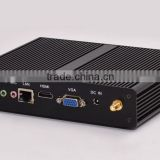 Aluminum Case Material and USB External Interface HTPC/small desktop computer /fanless pc, Windows7 TV Box with 4G RAM, 128 SSD