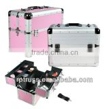 Aluminum trolley station cosmetic case,lamp beauty makeup trolley case,trolley lamp beauty case
