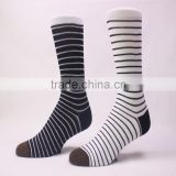 Colorful Thin Stripe Combed Cotton Knitting In Stock Dress Socks                                                                         Quality Choice