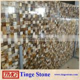 Semi-Precious Stone Polished Brown Mosaic Slab For Wall