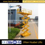 Customized outdoor building cleaning equipment hydraulic full automatic scissor lift platform