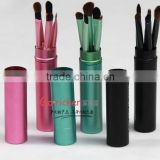 5pcs metallic cylinder make up brush simple beautiful durable facial brush women's private cosmetic brush set