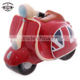 Red Union Jack UK Flag Retro Scooter Money Box