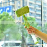 Hot sale tow-sided multifunctional clear cleaning Spray window glass /car wiper squeegee brush/home cleaning window brush