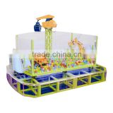 Supermarket amusement indoor playing ball game machine Excavator lifting unit for kids