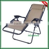 OEM Wholesale Garden Funiture Zero Gravity Folding Deck Chair With Headrest
