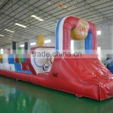 2016 Sunjoy factory price Inflatable Water Slide and Water Obstacle Court Race Steeplechase