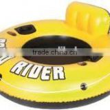 New design pvc rider tube inflatable float lounger, water sports pool swimming air mattress