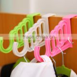 Multi clothes hangers over the door plastic hooks for hanging hats