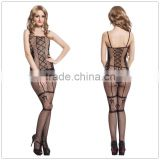 Fancy design hot sale nylon material cheap price sex ladies body stocking