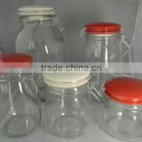 Glass Jars With Ceramic Lid And Clamp Top Lid Jar