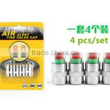 4pcs/pack Car Tyre Tire Pressure Monitor Indicator Valve Stem Cap Sensor 3 Color Eye Alert